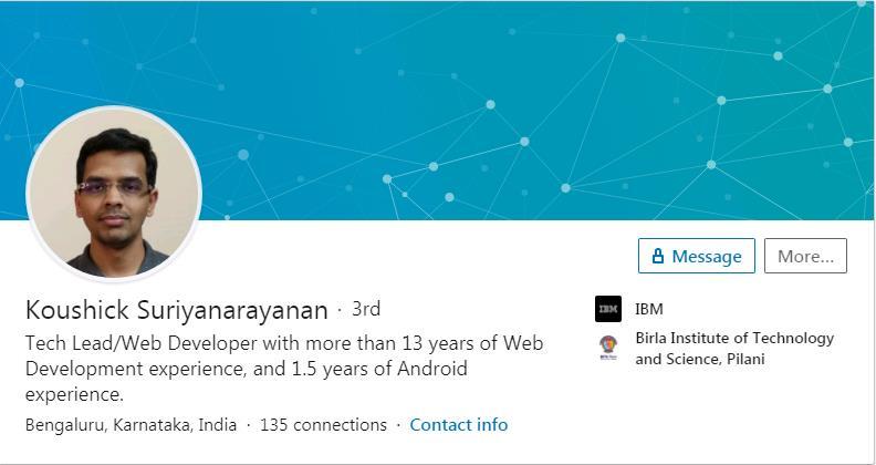 Koushick Suriyanarayan makes yoursoftware
