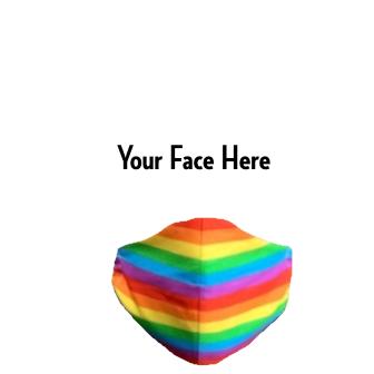 DIY Rainbow FaceMask
